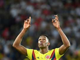 Everton are looking to sign Yerry Mina from Barcelona. AFP