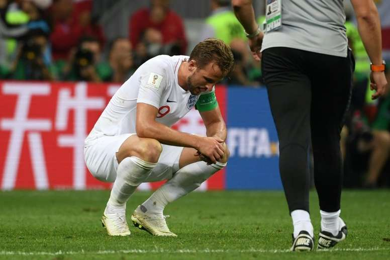 Kane was left 'gutted' by England's defeat. AFP