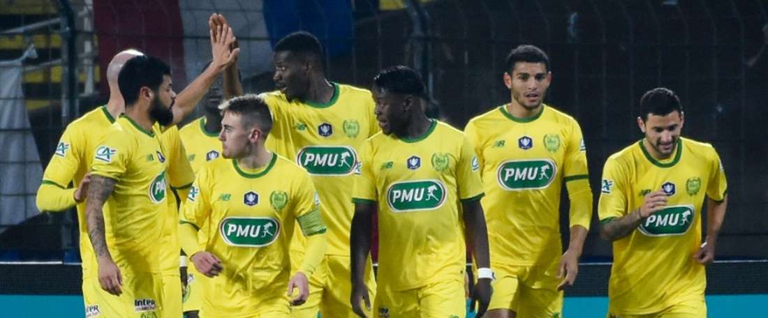 Kalifa Coulibaly scored inside the opening 10 minutes for Nantes. AFP