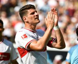 Mario Gomez is used to life at the top of the league, but now finds himself battling relegation. AFP