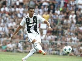 Cristiano Ronaldo fará a sua estreia contra o Chievo. AFP