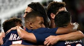 Con lo justo, el PSG sumó sus primeros tres puntos. AFP