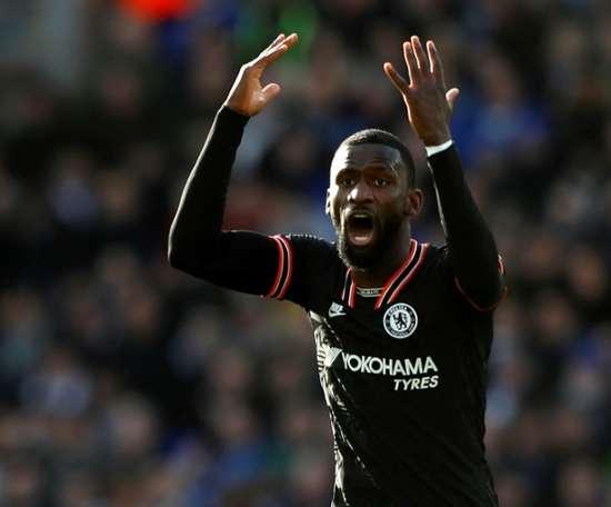 O Chelsea não sabe o que fazer com Rüdiger. AFP