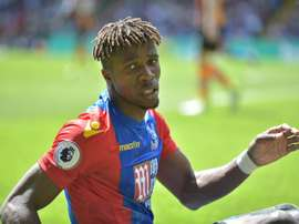 Wilfrid Zaha's goal was not enough for Crystal Palace to get back in to the game. AFP