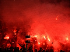 Saint-Etienne hit with fan ban after PSG fireworks display. AFP