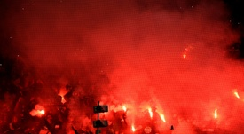 Saint-Etienne hit with fan ban after PSG fireworks display. AFP