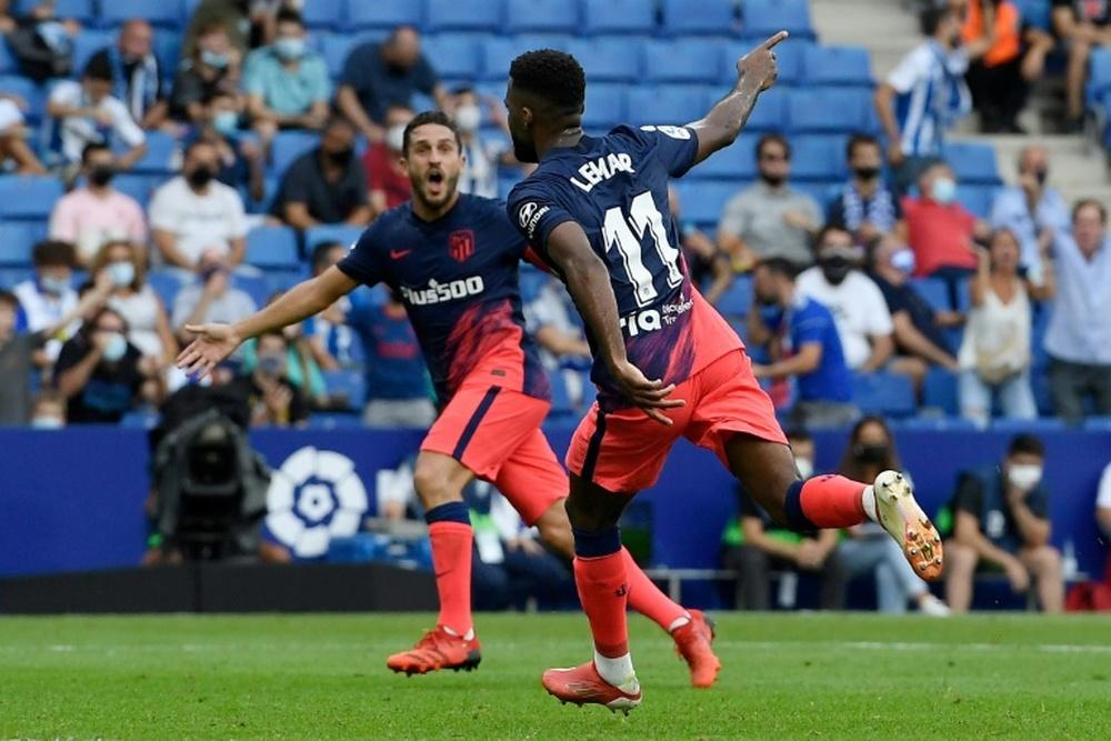 Carrasco e Lemar resgatam o Atlético em reestreia apagada de Griezmann. Captura/MovistarLaLiga