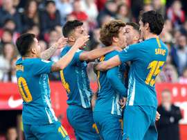 Griezmann was the star man for Atlético once more. AFP
