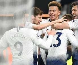 El Tottenham aparca sus ganas para la Champions. AFP