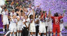 Lyon's win the Women's Champions League once again. AFP