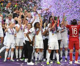 Lyon's win the Women's Champions League once again. AFP