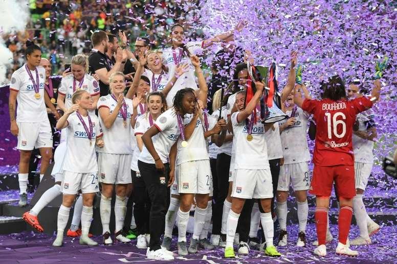Lyon fatura a Champions Feminina com show de Ada Hegerberg. AFP