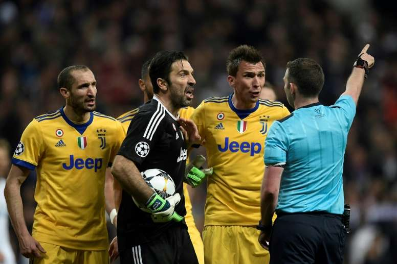 Buffon was sent off for his comments. AFP