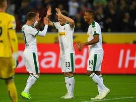 'Hat trick' de Hofmann ante el Mainz 05. AFP