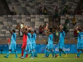 Fiji estuvo en los Juegos Olímpicos de Brasil, aunque no tuvo suerte. AFP