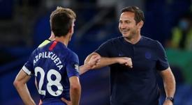 Lampard confía en acabar la temporada en la tercera plaza. AFP