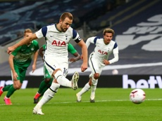 Harry Kane has scored 13 goals for Tottenham this season, including six in the Europa League. AFP