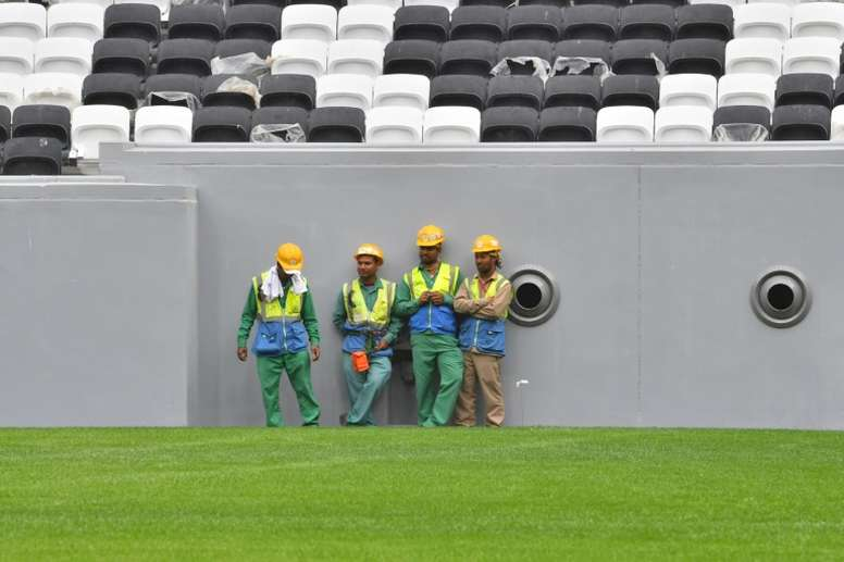 World Cup organisers in Qatar reported the first coronavirus death of a worker. AFP