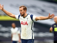Harry Kane has received an apology from Maccabi Haifa. AFP