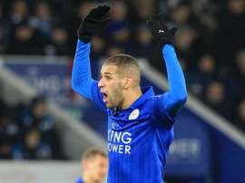 Besiktas want Leicester's Slimani. AFP