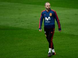 Iniesta is looking increasingly likely to leave Barcelona at the end of the season. AFP