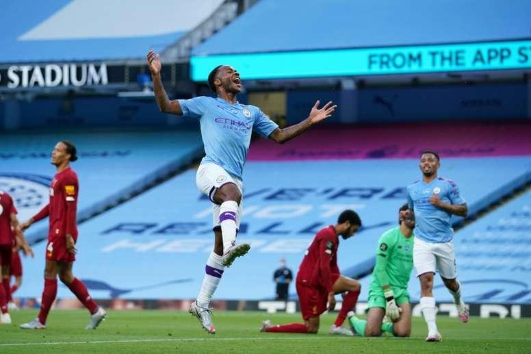 Man City beat Liverpool 4-0. AFP