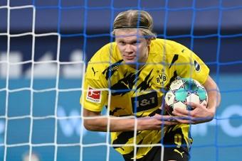 Le formazioni ufficiali di Borussia Monchengladbach-Borussia Dortmund. AFP