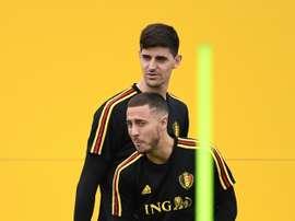 Courtois aposta por Hazard. AFP