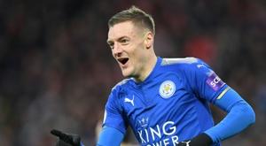 Vardy anotó el tanto del triunfo del Leicester. AFP
