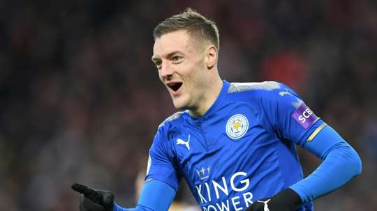 Vardy's own academy is helping young footballers get a start in the Football League. AFP