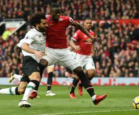 Salah's goalscoring run ended against Man Utd. AFP.