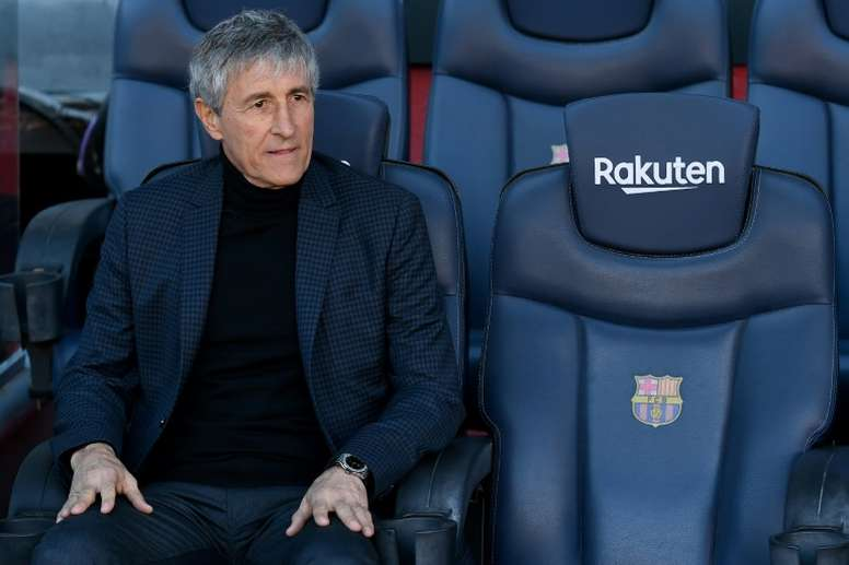 Setién se crece en el Santiago Bernabéu. AFP
