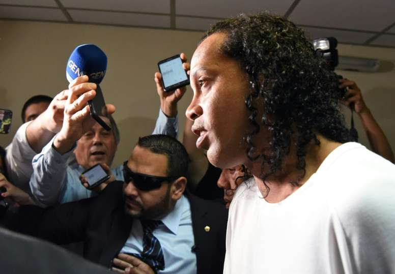 Ronaldinho has failed in his appeal to be released. AFP