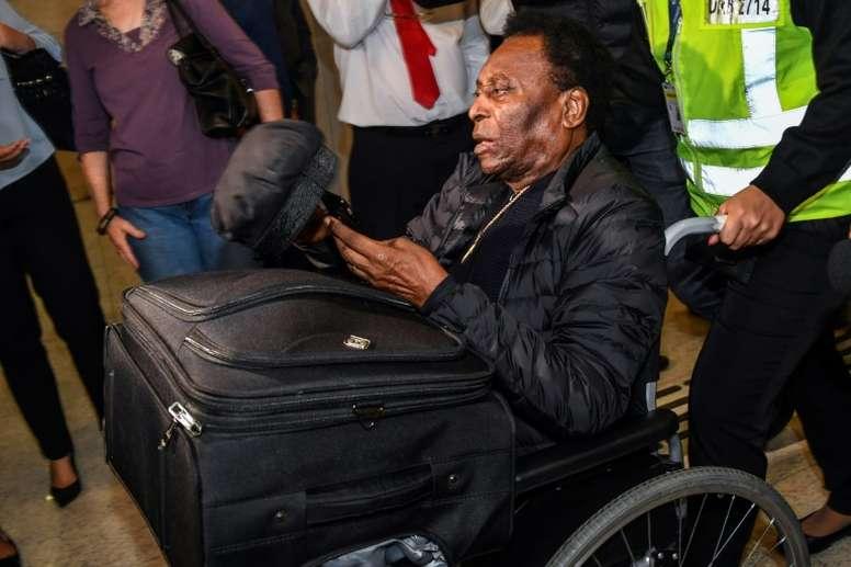 A saúde de Pelé preocupa o mundo do futebol. AFP