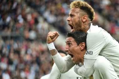 Neymar impressed in a deeper role. AFP