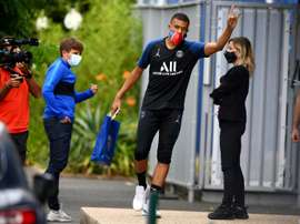 Kylian Mbappe and PSG will be playing in front of spectators on Sunday. AFP