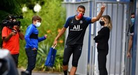 Mbappé s'est entrainé avec ses coéquipiers. goal