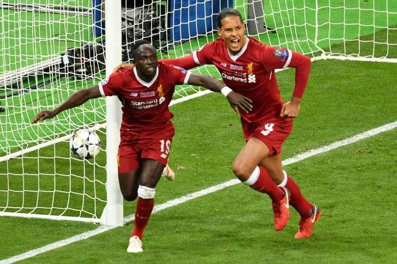 Sadio Mané agradeció el interés, pero se ve en el Liverpool. AFP