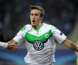 Max Kruse was involved in a car accident at 4am but still punctually for training at 10. AFP
