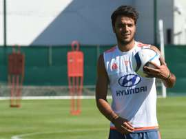 Lyons French midfielder Clement Grenier takes part in a training session ahead of the 2015/2016 French L1 football season on June 30, 2015 in Lyon