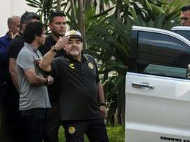 Maradona seeks rebirth in Mexican club. AFP