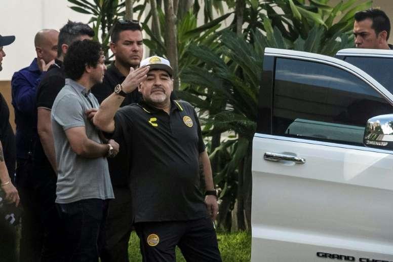 Maradona seeks rebirth in Mexican club. AFP