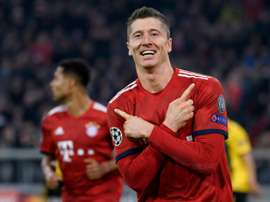 Lewandowski totalise 51 buts en Ligue des champions. AFP