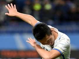 Yuma Suzuki celebrates his goal during the Club World Cup against Colombias Atletico Nacional. AFP