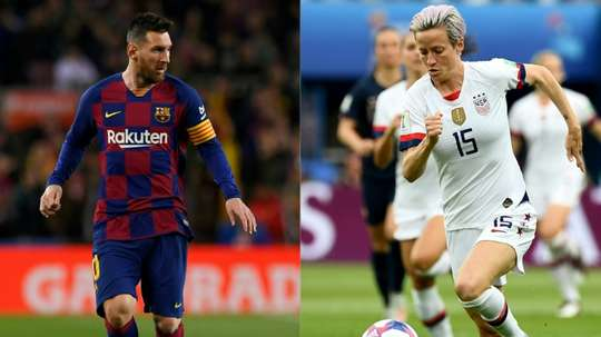 Messi and Rapinoe expected to take Ballon d'Or honours. AFP