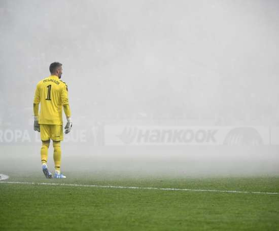 Rangers keeper Allan McGregor has been praised by his manager. AFP