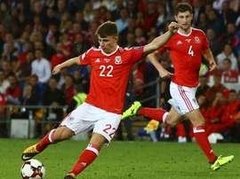 Gales dio la cara ante Georgia. AFP/Archivo