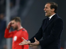 Juventus head coach Massimiliano Allegri reacts during their UEFA Champions League Group H match, at the Juventus Stadium in Turin, on December 7, 2016