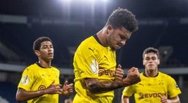 Jadon Sancho es una de la estrellas del Borussia, pese a tener solo 20 años. AFP