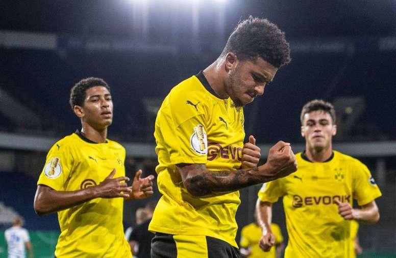 Dortmund afasta Sancho do United. AFP